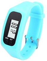 Unisex Fashion Digital LCD Pedometer,Ninasill Run Step Walking Distance Calorie Counter Watch Bracelet(Sky Blue)