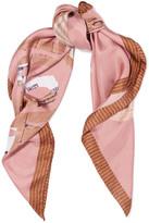 Moschino Teddy Printed Silk-satin Scarf