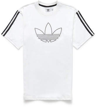 adidas White Floating Trefoil T-Shirt