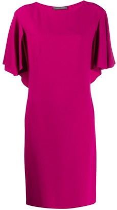 Alberta Ferretti Boat Neck Shift Dress