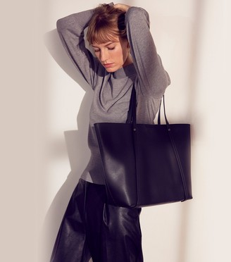 New Look Leather-Look Large Tote Bag