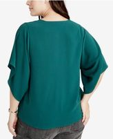 Rachel Roy Trendy Plus Size Flutter-Sleeve Top