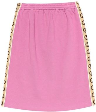 Gucci Kids Cotton-jersey skirt