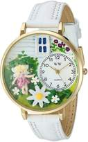 Whimsical Watches Women's G1210012 Daisy Fairy White Leather Watch