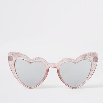 River Island Mini girls Pink heart shape sunglasses