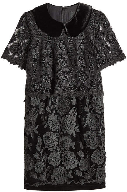 Anna Sui Velvet Dress with Lace