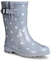 Girl's Novel Dot Rain Boots - Gray