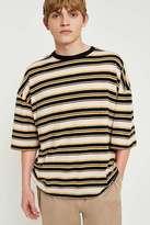 Uo Caramel And Black Irregular Stripe T-shirt
