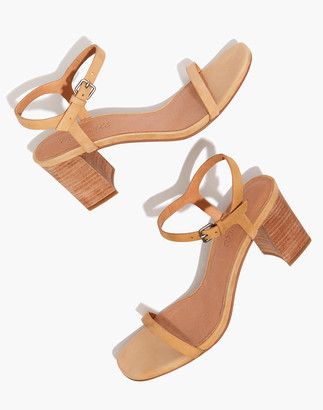Madewell The Hollie Ankle-Strap Sandal in Nubuck Leather
