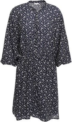 Joie Galani Floral-print Cotton-blend Voile Mini Dress