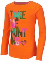 Carhartt Vermilion Orange 'Take Me Hunting' Slub Tee - Girls