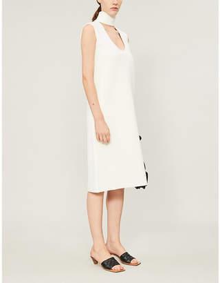 Bottega Veneta Cut-out stretch-ponté knee-length dress