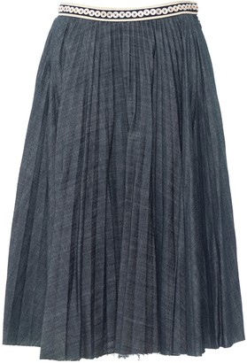 Alexander McQueen Blue Denim - Jeans Skirt for Women Vintage