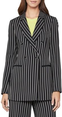 BCBGMAXAZRIA Front Button Stripe Jacket