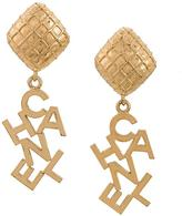 Chanel Vintage boucles d'oreilles log