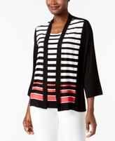 Alfred Dunner Petite Layered-Look Striped Top