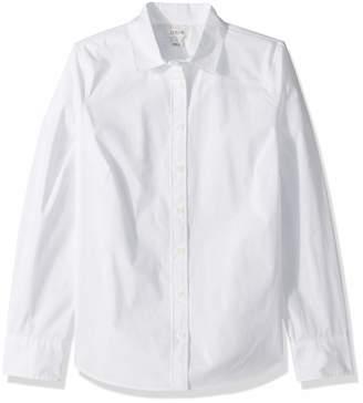J.Crew Mercantile Women's Stretch Long-Sleeve Solid Shirt