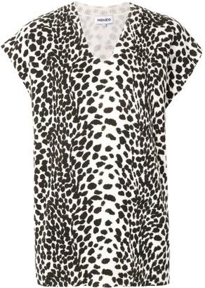 Kenzo Animal Print Knitted Top