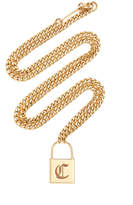 Zoe Chicco 14K Yellow Gold Large Engraved Initial Padlock Curb Chain N