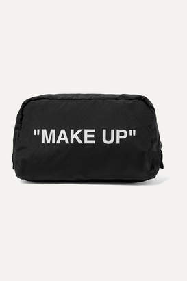 Off-White Printed Shell Cosmetics Case - Black