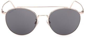 Bally 56MM Metal Round Sunglasses
