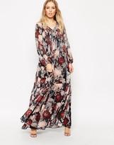 Needle & Thread Rose Water Print Chiffon Gown