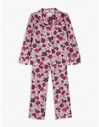 Little Yolke Floral print cotton pyjamas 3-12 years