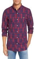 Lacoste Men's L!ve Ikat Plaid Shirt