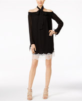 MICHAEL Michael Kors Cold-Shoulder Lace Dress