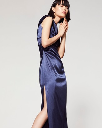 Vince Camuto Satin Ruched Gown