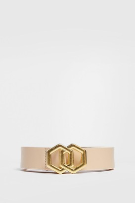 Nasty Gal Womens Waist Your Own Time Geometric Belt - Stone