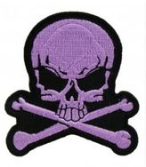 Logophile Embroidered Skull & Bones Patch