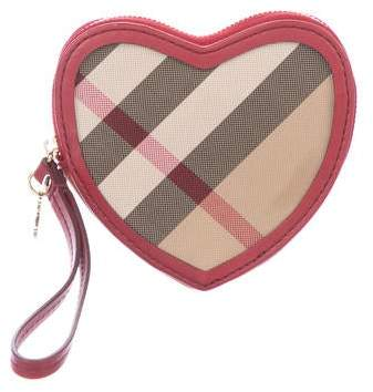 Burberry Supernova Check Heart Coin Purse