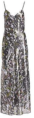 Ganni Women's Printed Metallic Lurex Silk Dress