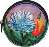 Anuschka Women's Round Key Pouch/Coin Purse - Turkish Tulips Coin Purses
