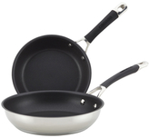 Circulon Momentum Stainless Steel Non-Stick French Skillet Set (Set of 2)