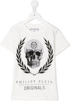Philipp Plein skull print T-shirt - kids - Cotton - 12 yrs