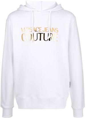 Versace Metallic-Logo Cotton Hoodie
