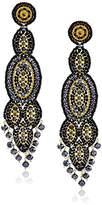 Miguel Ases Quartz Slender Oval Drop Earrings