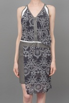 Helmut Lang Printed Dress w/Rubber Trim