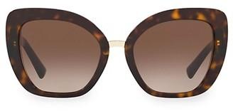 Valentino Allure 54MM Tortoiseshell Sunglasses