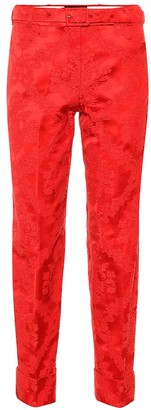 Simone Rocha Jacquard cotton-blend pants