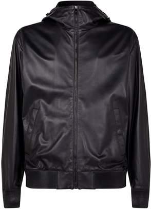 Ralph Lauren Purple Label Hooded Leather Jacket