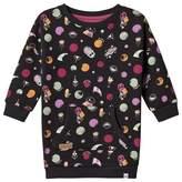 Animal Black Pattern Sweater Dress
