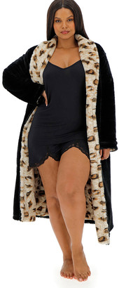 Figleaves Curve Luxury Leopard Reversible Robe
