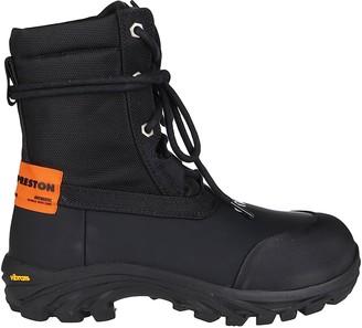 Heron Preston Black Technical Canvas Boots