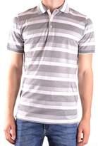 Dalmine Men's Grey Cotton Polo Shirt.