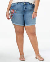 Style&Co. Style & Co Plus Size Embroidered Cuffed Shorts, Created for Macy's