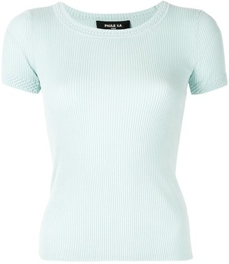 Paule Ka Short-Sleeve Fitted Top