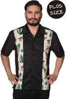 Banned Lost and Found Mens PLUS SIZE Vintage Rockabilly Shirt - / 5XL